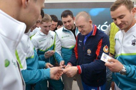 Дмитрий Саутин пожелал удачи спортсменам Центрально-Черноземного банка